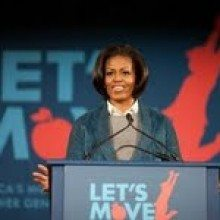 Michelle Obama National Restuarant Association healthy kids meals childhood obesity