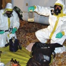 meth cleanup men in hazmat suits