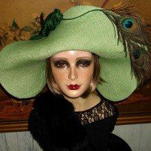 Berti Borrell Designs a Green Hat to Envy