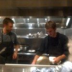 Chef Luca and his brother Francesco behind the stainless steel kitchen prepare each dish with heart and heritage