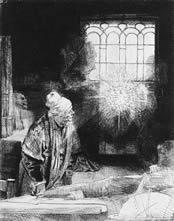 Rembrandt van Rijn, A Scholar in His Study, 1650-54, Rijks-museum, Amsterdam