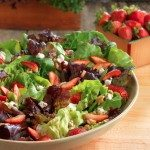 organic produce sustainable farm earthbound cooking heirloom lettuce, strawberries and walnuts salad recipe