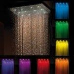 Chromotherapy rain shower offered by Jaclo