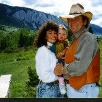 The Chuda's with their daughter Colette in Jackson Hole Wyoming in 1989