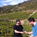 Chris Blanchard, Master Sommelier with Richard Case, winemaker in my vineyard