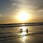 Journey and Raven Beach sunset