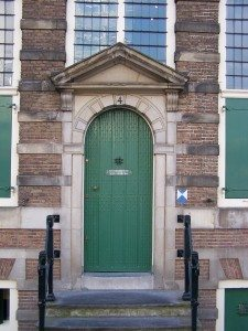 Rembrandt's house (detail showing front door), Rembrandthuis Museum, Amsterdam