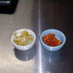 Saurkraut and kimchi