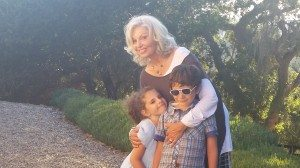 Nancy with Emma and Etan